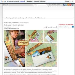 Embroidery Week: Wristlet