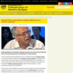 Bernard Friot embrouille un débat télévisé sur le revenu universel