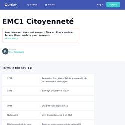EMC1 Citoyenneté Cartes
