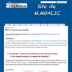 EMC1-L'exercice des libertés - Site de M.Moalic