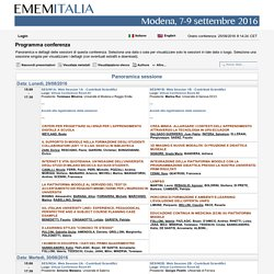 EMEMITALIA 2016 - ConfTool Pro - BrowseSessions