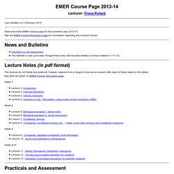 EMER Course Page 2012/2013
