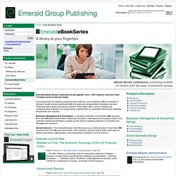 Emerald eBook Series