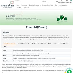 Buy Emerald (Panna) Gemstone Online – Navratan.com