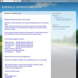 EMERALD SPRINGS RETREAT