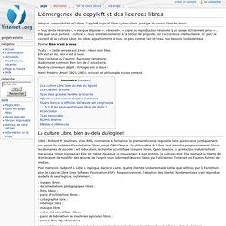 L'émergence du copyleft et des licences libres — Wiki livre Netizenship