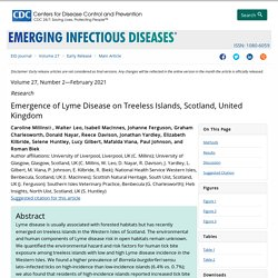 CDC EID - FEV 2021 - Emergence of Lyme Disease on Treeless Islands, Scotland, United Kingdom