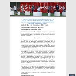 EMERGENCIA DEL URBANISMO TEMPORAL
