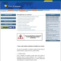 Emergências no exterior — Itamaraty MRE - Portal Consular