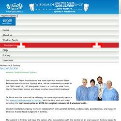 Wisdom Teeth Removal in Sydney - Wisdom Dental Emergency
