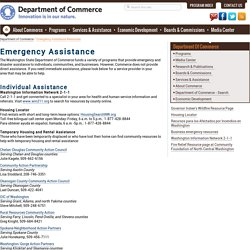 Emergency Assistance Resources