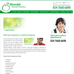 What you should do in a dental emergency - Bhandal Dental Practice