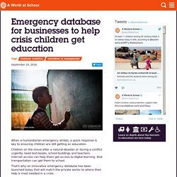 Emergency database for businesses to help crisis children get education