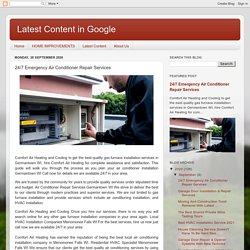 Latest Content in Google : 24/7 Emergency Air Conditioner Repair Services