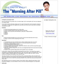 Is Emergency Contraception Safe? - Morning After Pill
