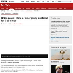 Chile quake: State of emergency declared for Coquimbo