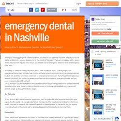 emergency dental in Nashville