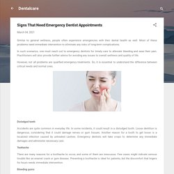 Signs That Need Emergency Dentist Appointments