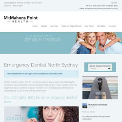Emergency Dentist North Sydney