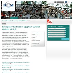Emergency Red List of Egyptian Cultural Objects at Risk- Red List