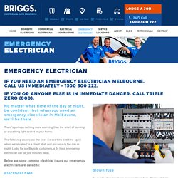 Emergency Electrician Melbourne