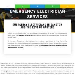 Emergency Electrician in Sandton, Gauteng
