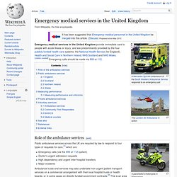Emergency medical services in the United Kingdom