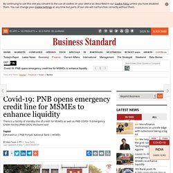 Covid-19: PNB opens emergency credit line for MSMEs to enhance liquidity