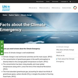 Facts about the Climate Emergency
