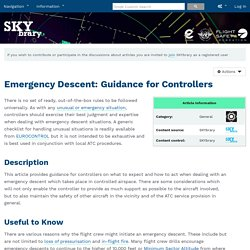 Emergency Descent: Guidance for Controllers - SKYbrary Aviation Safety