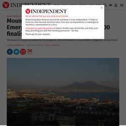 Mount Vesuvius eruption risk: Emergency plans to evacuate 700,000 finalised