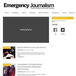 Emergency Journalism | toolkit for better and accurate reporting