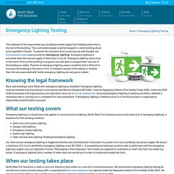 Emergency Lighting Testing Cheshire, Liverpool & Wirral