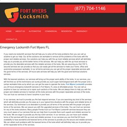 Emergency Locksmith Fort Myers FL