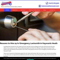 Reasons to Hire 24 hr Emergency Locksmith in Haywards Heath