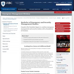 Bachelor of Emergency and Security Management Studies | Justice Institute of British Columbia