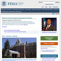 Emergency Management Institute Home Page