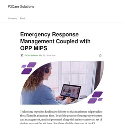 Emergency Response Management Coupled with QPP MIPS