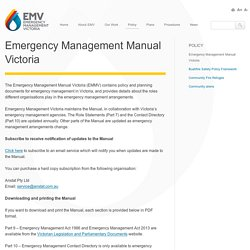 Emergency Management Manual Victoria