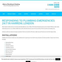 EMERGENCY PLUMBERS IN HARROW