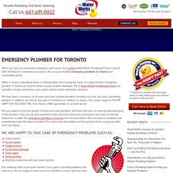Emergency Plumbing Services in Toronto