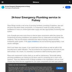 24-hour Emergency Plumbing service in Putney on Behance
