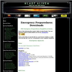 Last Alive - Emergency Preparedness Downloads