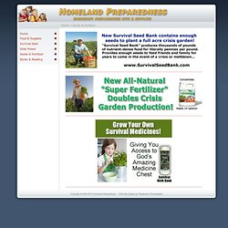 Emergency Preparedness: Non-Hybrid Seeds, Heirloom Seeds, Non GMO Seeds, Survival Garden Seeds
