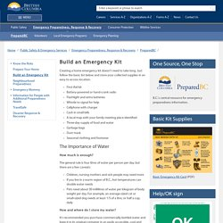 Build an Emergency Kit - Province of British Columbia