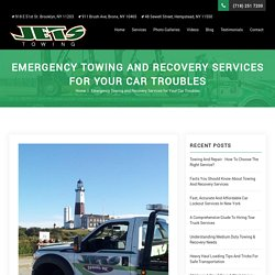 Emergency Towing and Recovery Services for Your Car Troubles