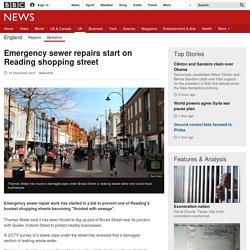 Emergency sewer repairs