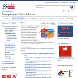 School Emergency Response Plan & Management Guide