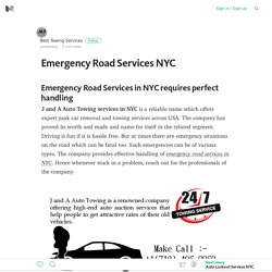 Emergency Road Services NYC