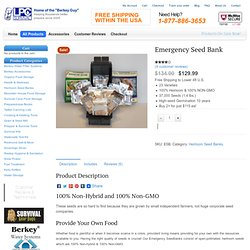 Emergency Seed Bank : Directive21.com